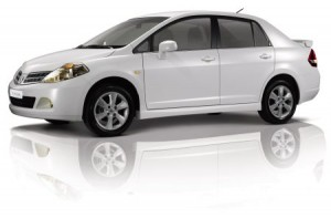 tiida sedan 300x197 Car Rental for Trinidad Carnival....CHECK!