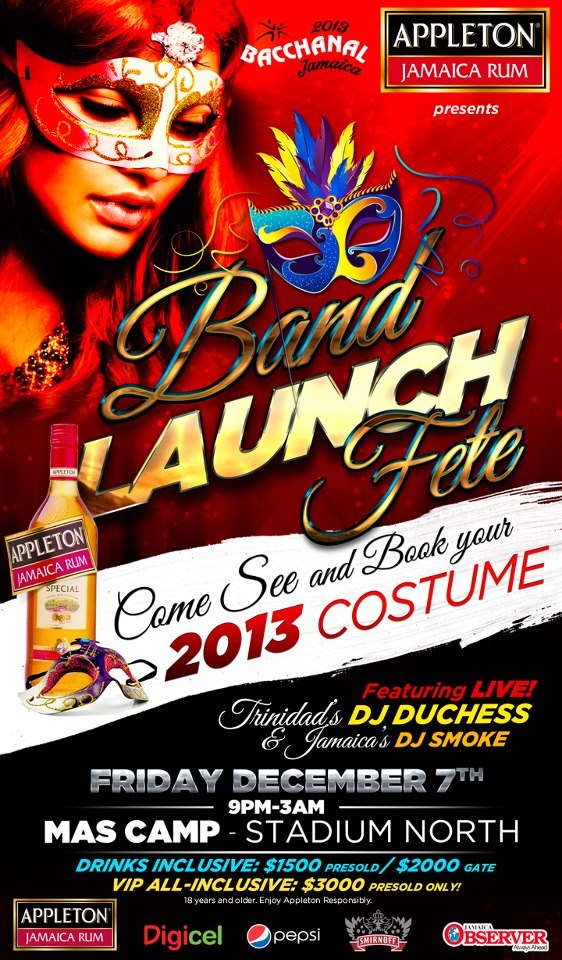 Bacchanal Jamaica carnival 2013 launch update