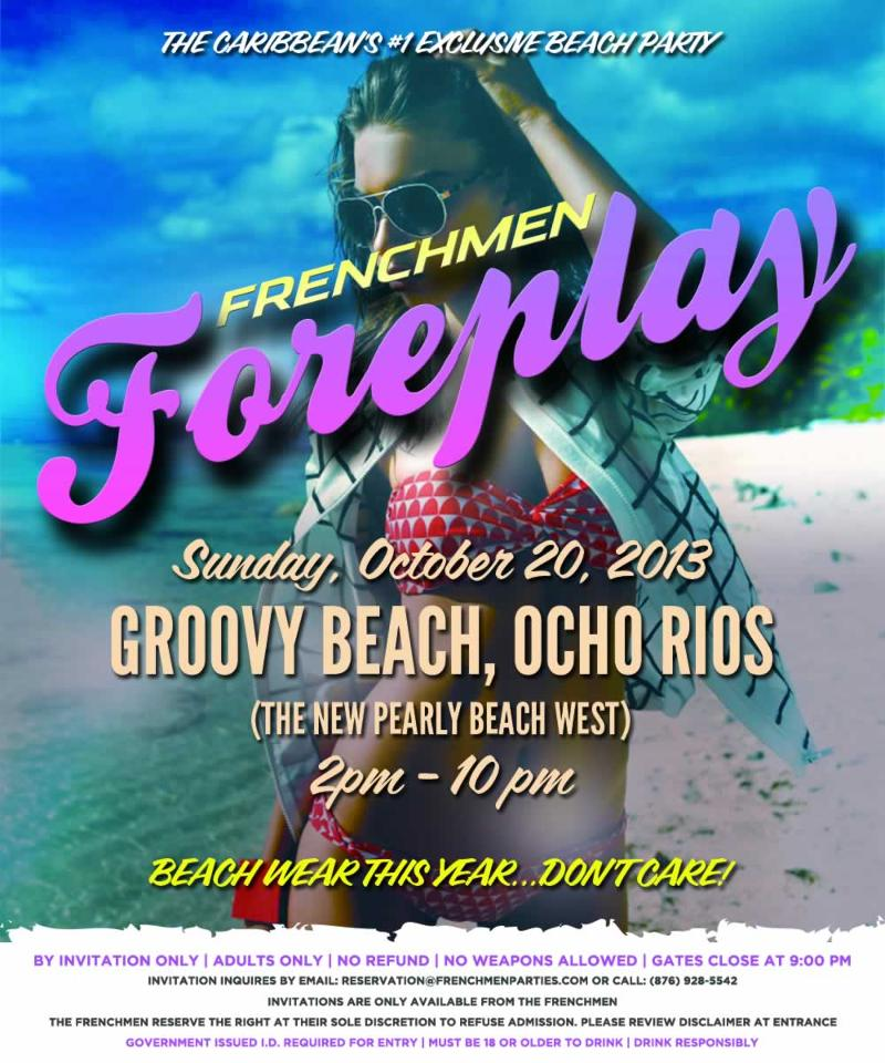Where to fete (WTF) October 19th and 20th, 2013.  Frenchmen Nightcap and Foreplay