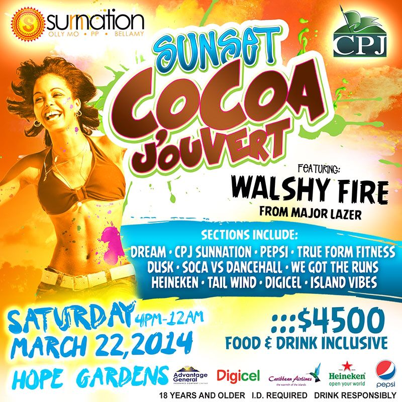 Sunset Jouvert, Jamaica 2014.  More details