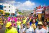 4 separate bands on the road for carnival in Jamaica